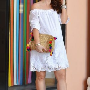 Abercrombie and Fitch White Off Shoulder Dress
